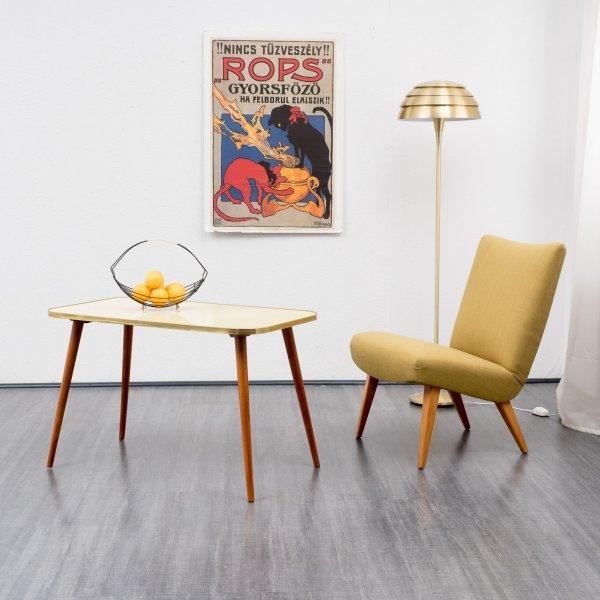 velvet point tische couchtische 50er jahre cocktail couchtisch pastellgelb karlsruhe. Black Bedroom Furniture Sets. Home Design Ideas