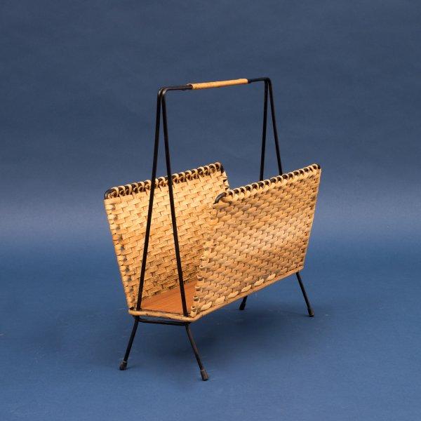 velvet point accessoires 50er jahre zeitungsst nder metall und korbgeflecht karlsruhe. Black Bedroom Furniture Sets. Home Design Ideas