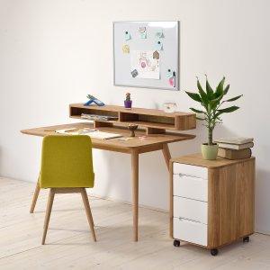 velvet point aufbewahrung tische schreibtisch mit aufsatz 39 stafa 39 von gazzda eiche massiv. Black Bedroom Furniture Sets. Home Design Ideas