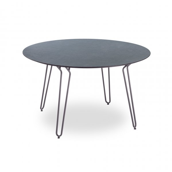 Velvet Point Tables Table With Hairpin Legs By Grosfillex