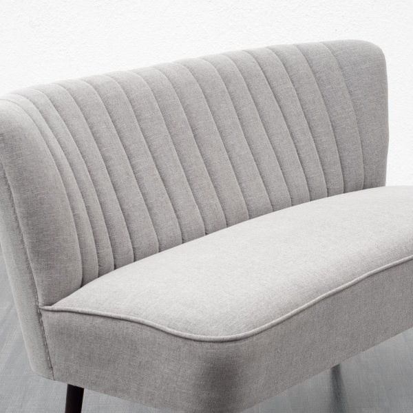 50s Style Cocktail Sofa, Grey (no. 2684)