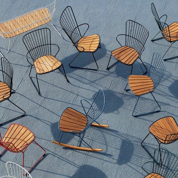 Velvet Point stühle Dining Chair 'PAON' von HOUE